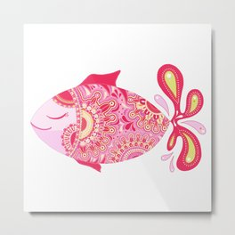 Touchy Fish Metal Print