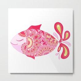 Touchy Fish Metal Print