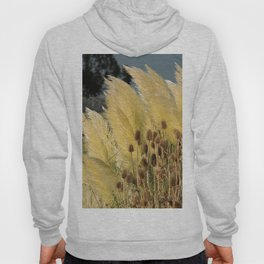 Tails of fox and thistles in the pampas. Hoody