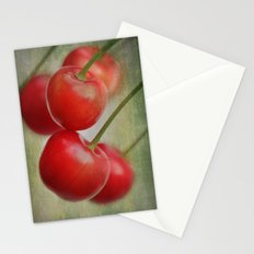 Cherries in the wind Stationery Cards