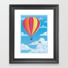 Picnic in a Balloon on a Cloud Framed Art Print