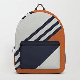 Retro Stripes in Blue Orange Backpack
