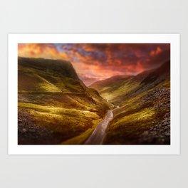 Honister Sundown Art Print