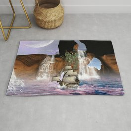 View over the ocean Rug