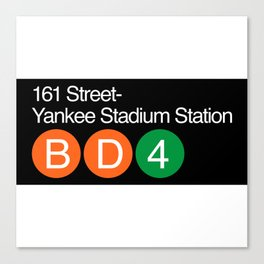 Subway yankee stadium Canvas Print