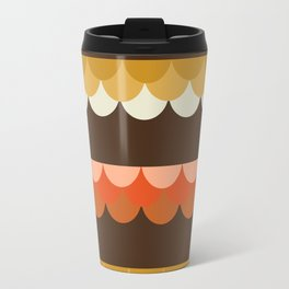 Be Still - scallop retro vintage 70s style colors 1970s throwback Travel Mug