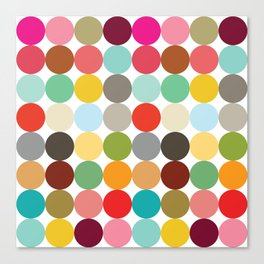 Palette Dots #1 Canvas Print