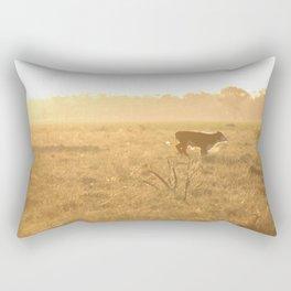 Calf on the Run Rectangular Pillow
