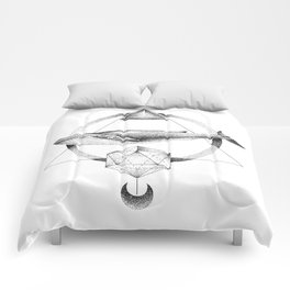 GEOMETRIC WHALE Comforters