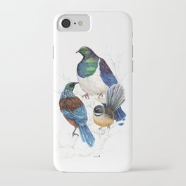 thee birds in a tree iPhone Case