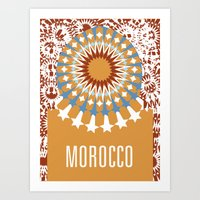 morocco Art Prints featuring Morocco by Corrie Liotta