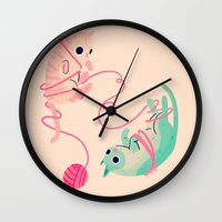 tangled Wall Clocks featuring Tangled by Nan Lawson