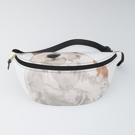 Wired-Haired Jack Russel Terrier watercolors illustration Fanny Pack