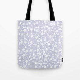 Block Printed Dusty Purple and White Stars Tote Bag