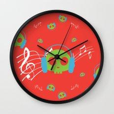 Music Skull Wall Clock