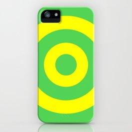 Target (Green & Yellow Pattern) iPhone Case