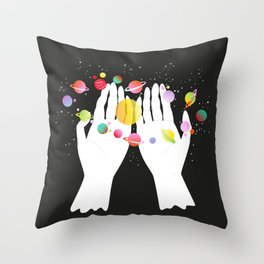 my solar system Throw Pillow