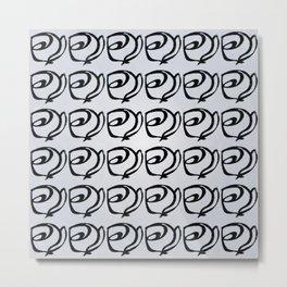 Rows of Flowers, Sky Metal Print