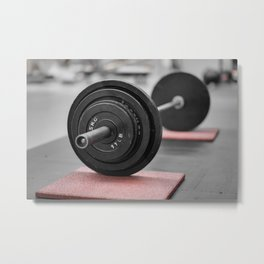 Cast Iron Barbell Metal Print