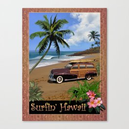 Surfin' Hawaii Canvas Print