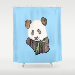Panda Zen Shower Curtain