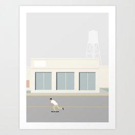 SKATEBOARD TUR Art Print