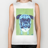 boxer Biker Tanks featuring Boxer by mkfineart