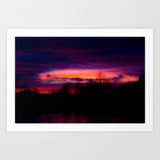 A Sunset in February Art Print