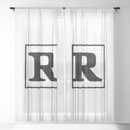 Rated R Sheer Curtain