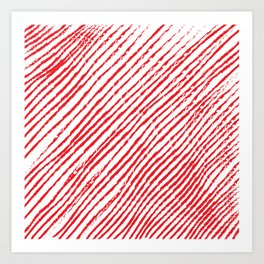 Candy Cane (The raw version) - Christmas Illustration Art Print