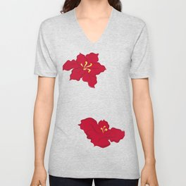 Poinsettia - red Unisex V-Neck
