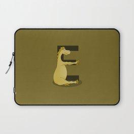 Pony Monogram Letter E Laptop Sleeve