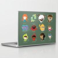 zodiac Laptop & iPad Skins featuring The zodiac by Maria Jose Da Luz