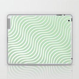 Whiskers Light Green & White #440 Laptop & iPad Skin