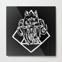Goat as wolf Metal Print