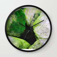 moss Wall Clocks featuring Moss by Darkest Devotion