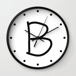 B LOVE Wall Clock