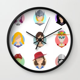 Heroines Wall Clock