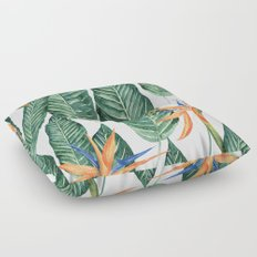 Banana And Flowers #society6 Floor Pillow
