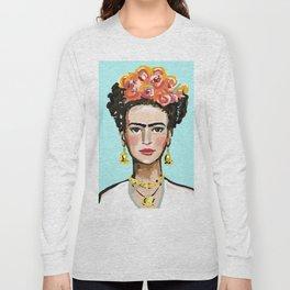 Frida Aqua Long Sleeve T-shirt