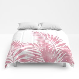 Palm Leaves Pink Comforters