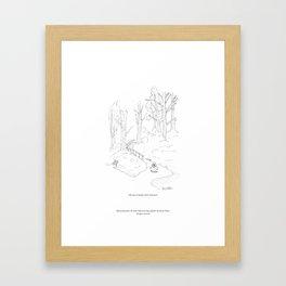 niki owl at Stanley Park, Vancouver Framed Art Print