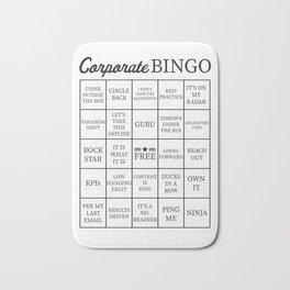 Corporate Jargon Buzzword Bingo Card Bath Mat