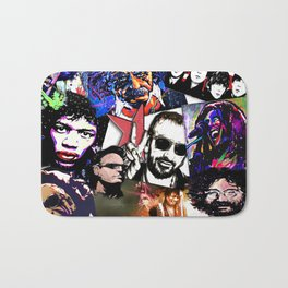 Famous Icons from Einstein to Bono Bath Mat