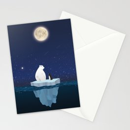 The Polar Bear and The Penguin Stationery Cards