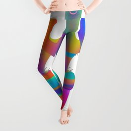 Cactus Rainbow 02 Leggings