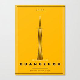 Minimal Guangzhou City Poster Canvas Print