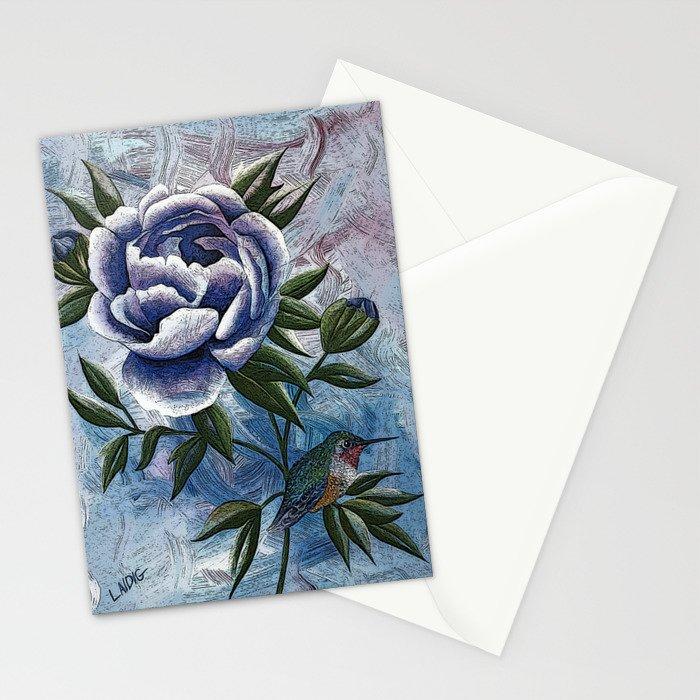 Peony Twilight Remix Stationery Cards