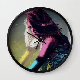 Stained Glass Girl Wall Clock