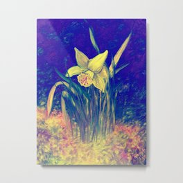 Neon Daffodil Awakening Metal Print